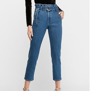 NWOT Cropped Paperbag Jeans